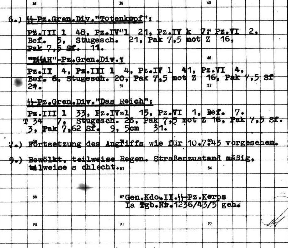 II. SS-Panzerkorps: Tagesmeldung vom 10.7.1943, 19:25. - PAGE 2
